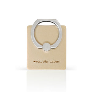 iGripz Phone Ring in Gold satin bronze hand free secure grip phone iphone android samsung devices