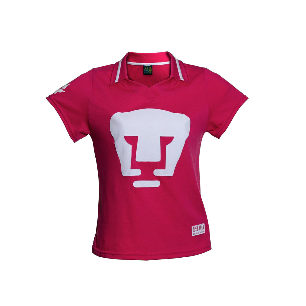 Playera Polo Retro 1980 Pumas Rosa