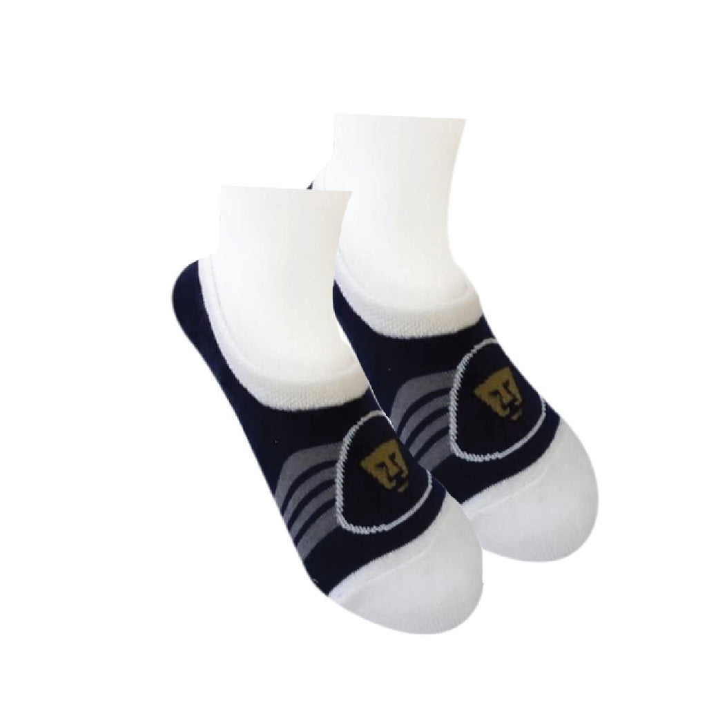 Calcetas Pumas UNAM Kit 6 Pares Azul Blanco