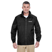 Load image into Gallery viewer, Full-Zip Hooded Pack-Away Windbreaker