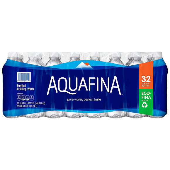 Aquafina Purified Drinking Water (16.9 oz., 32 pk.)