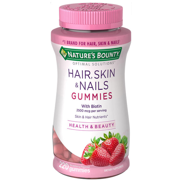 Nature's Bounty Hair, Skin & Nails Gummies (220 ct.)