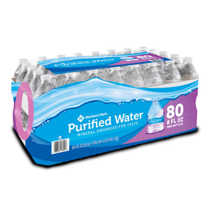 Member's Mark Purified Bottled Water (8oz / 80pk)