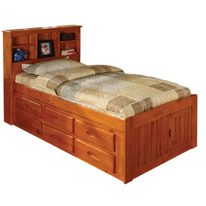 Bookcase Twin Bed (Assorted Colors)