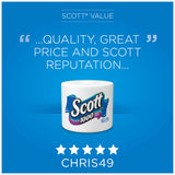 Scott 1100 Unscented Bath Tissue Bonus Pack, 1-ply - Individually Wrapped Toilet Paper
