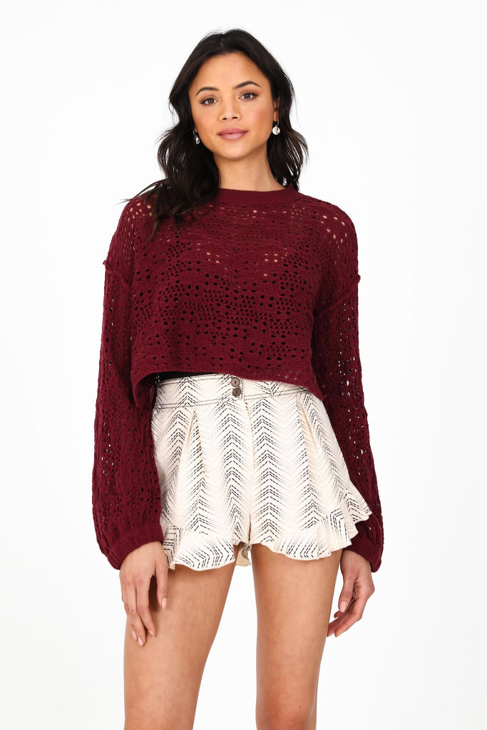 Laurel Sweater | garnet
