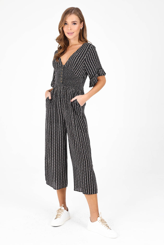 Manhattan Jumpsuit | bi-black