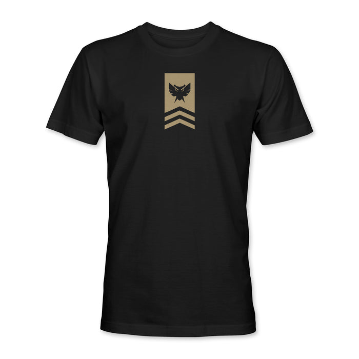 Badge Tee - Black / Khaki