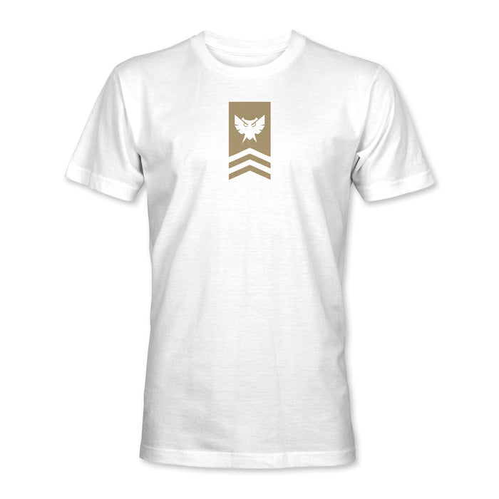 Badge Tee - White / Khaki