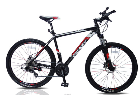 Mountain bike 27.5 wheel 20 inch red/ black frame 24 shimano gear lock out forks kenda tyre