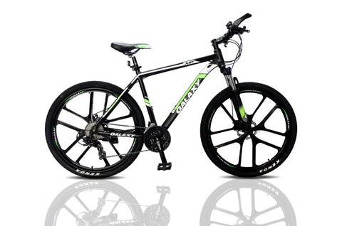 "Mountain bike 27.5 magnesium wheels 20"" alloy frame 24 shimano gears disc"