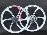 26 inch Magnesium Alloy bike wheels front & rear 8, 9 or 10 speed mountain bike
