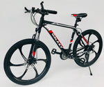 "Mountain bike 26""magnesium wheels 18""/ 20"" alloy frame 24 shimano gears disc"