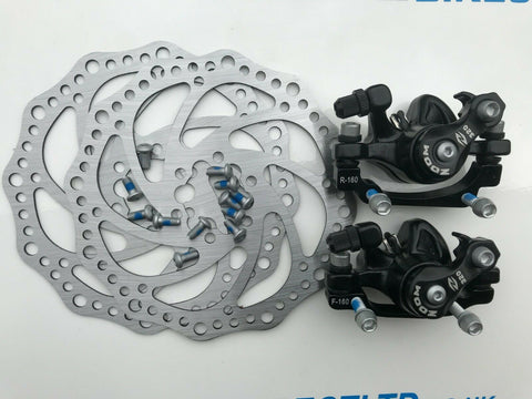 Mountain Bicycle Bike Mechanical Front+Rear Disc Brake Caliper Kit ZOOM BRAND