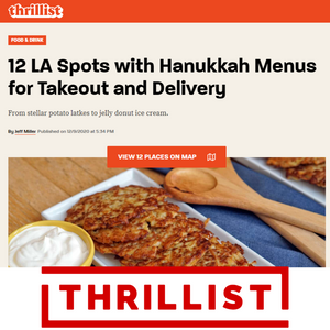 12 LA Spots with Hanukkah Menus for Takeout and Delivery