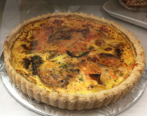 Sweet Potato & Roasted Veg Quiche