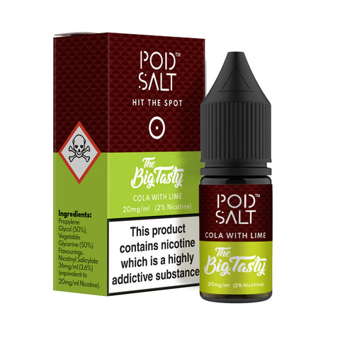 Pod Salt - Fusions - Nic Salt - The Big Tasty Cola with Lime [20mg]