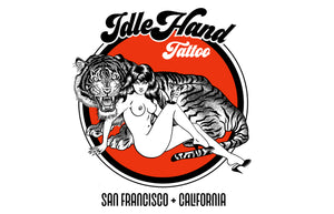 idle hand tattoo, san francisco, idle hand merch, tattoo, new shirts