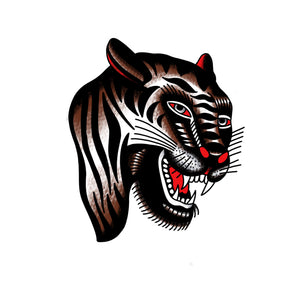 Idle Hand Bert Grimm Tiger Temporary Tattoos