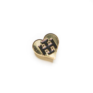 Gold Idle Hand Heart Pin