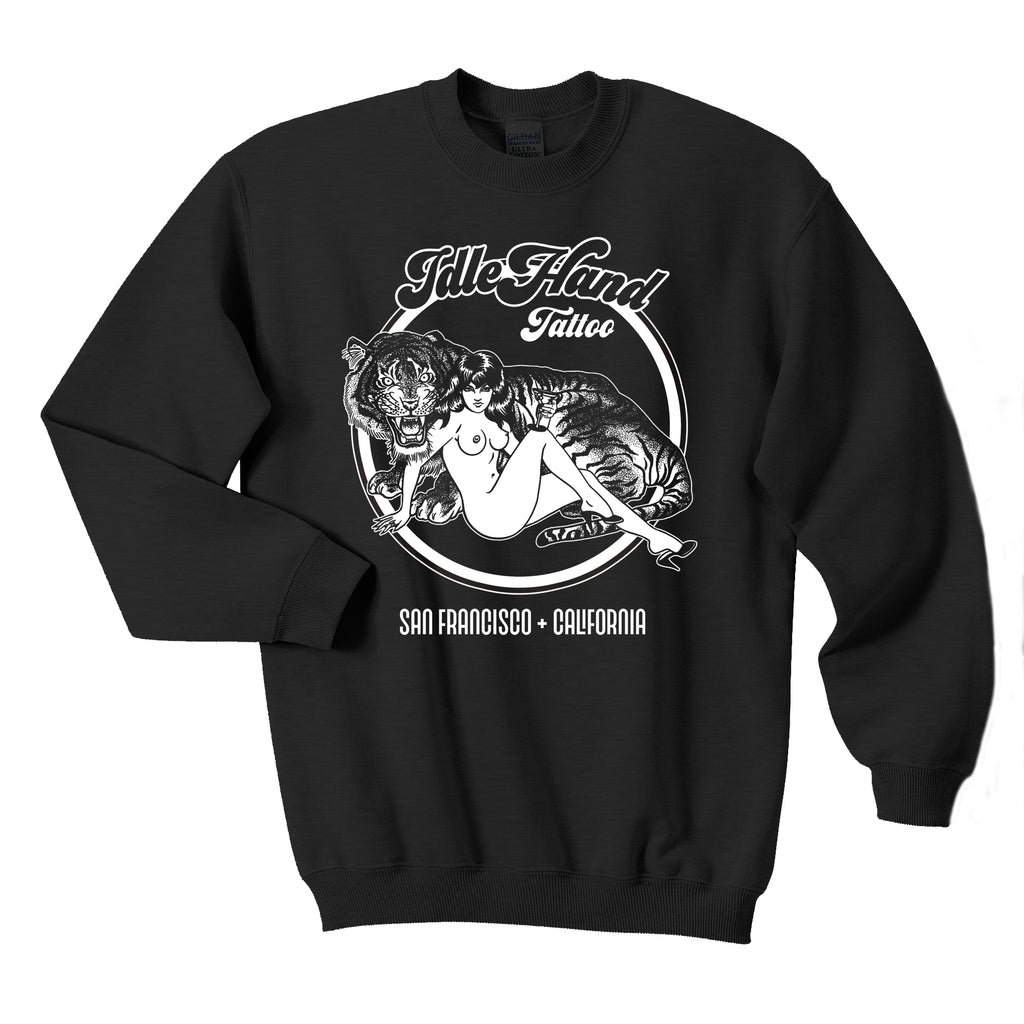 Unisex Tiger Lady Crewneck