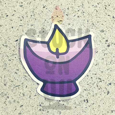 Purple Opaque Chalice Sticker