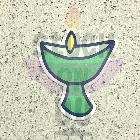 Green Chalice Sticker