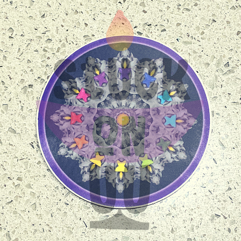 Rainbow Chalice Mandala Sticker