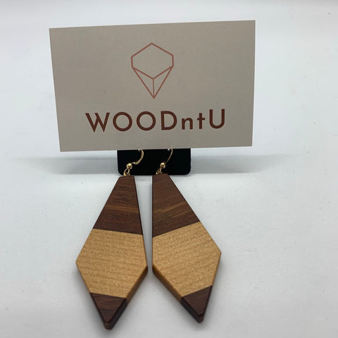 Medium Drop Jarrah and Kauri Earrings