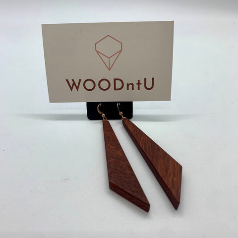 Medium Drop Red Jarrah Earrings