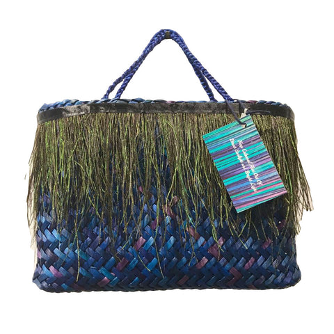 Blue Kete With Peacock Feathers