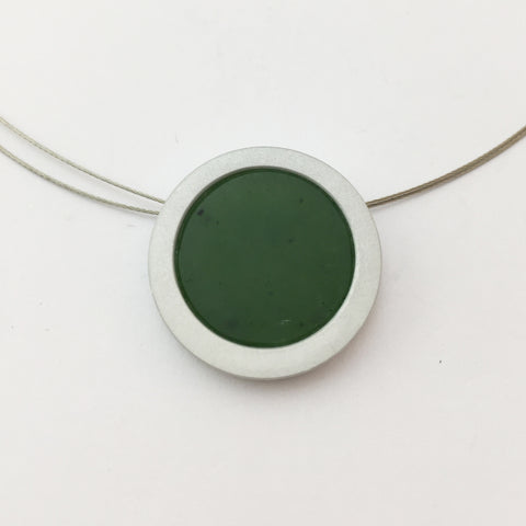 Round Greenstone Necklace
