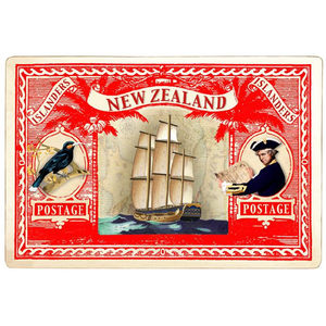 Captain Cook Stamp - Red