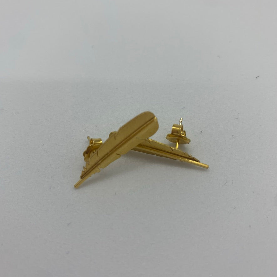 Huia Gold Plate Studs