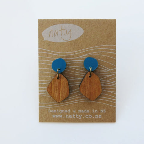 Coloured Rimu Earrings