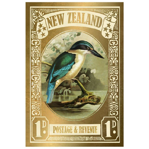 Kingfisher Stamp - Gold