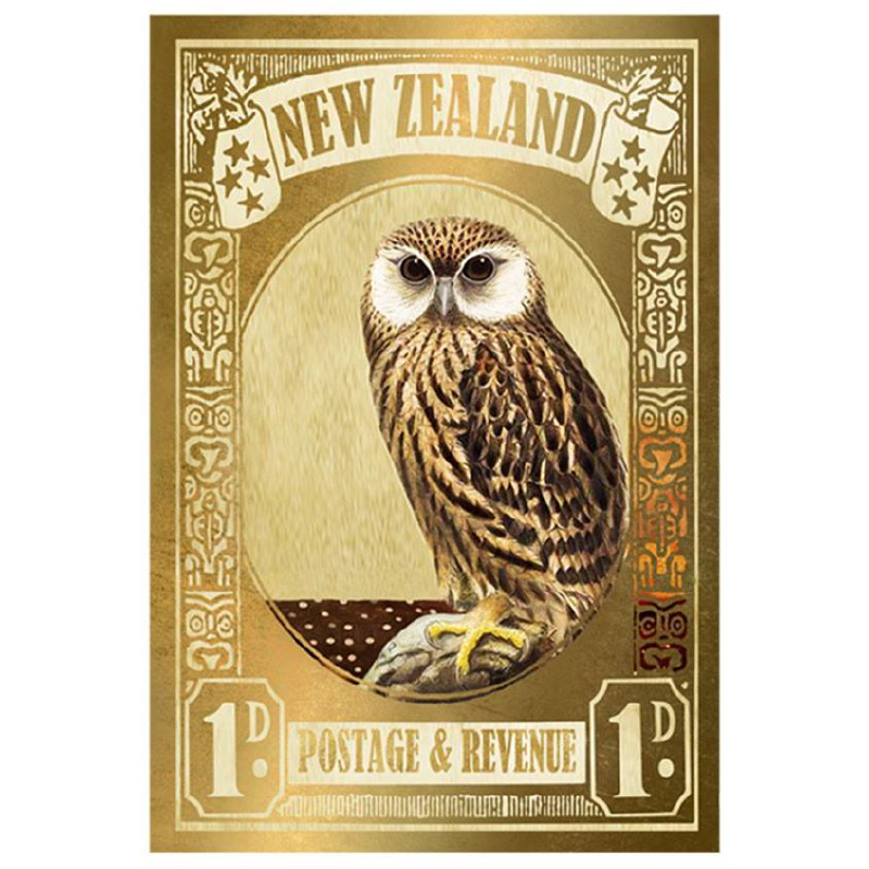 Laughing Owl Stamp - Gold