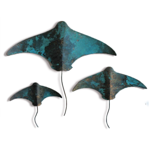 Copper Stingrays - Set of 3