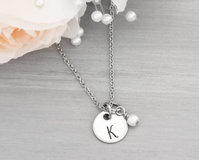 Initial Necklace for Bridesmaids Gift - Heartfelt Tokens
