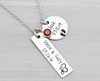 Personalized Mothers Jewelry Couple and Kids Necklace - Heartfelt Tokens