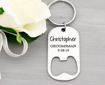 Groomsman Bottle Opener Key Chain