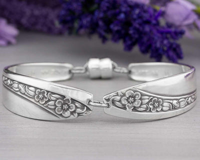Silverware Jewelry - Spoon Bracelet - Queen Mary/Starlight Rose 1953 Silverware Bracelet - Christmas Gift Idea for Her