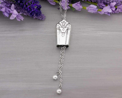 Silverware Slider Necklace Her Majesty 1931 - Adjustable Necklace - Christmas Gift for Her