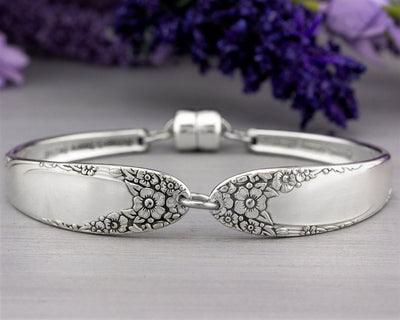 Silverware Bracelet - English Garden 1949 Antique Silverware - Spoon Jewelry - Gift for Her