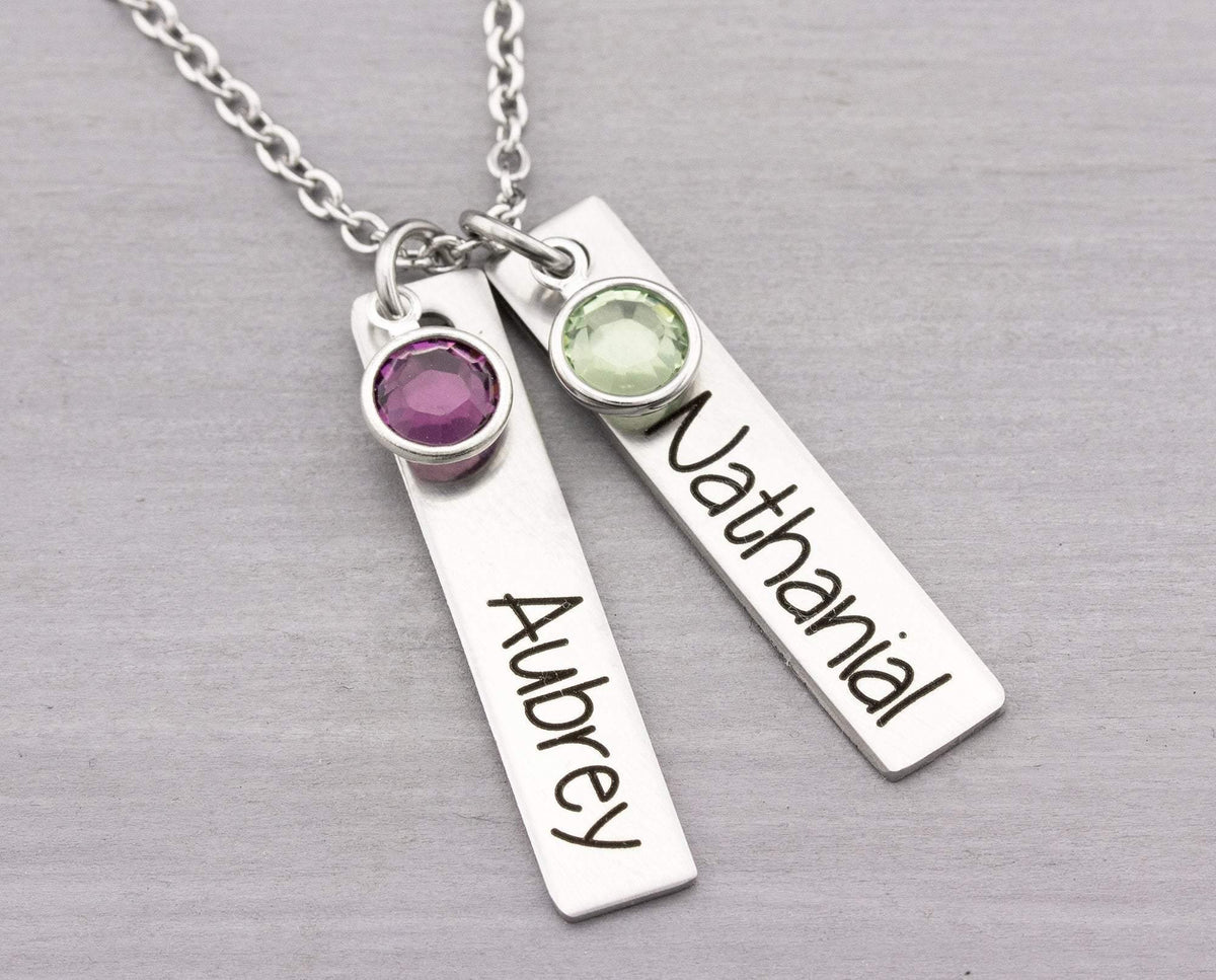 Personalized Necklace - Personalized Jewelry - Mom Necklace - Personalized Mom Necklace - Gift for Mom - Bar Name Necklace for Her