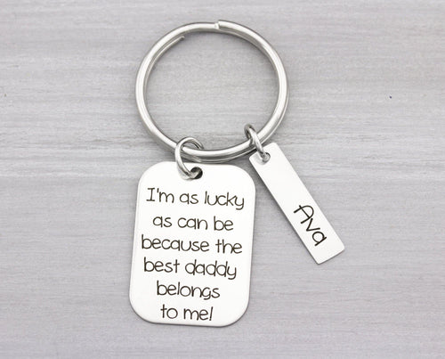 Custom Key Chain Gift - Personalized Key Chain for Dad or Mom - Key Chain Gift Idea - Christmas Gift for Him - Personalized Gift
