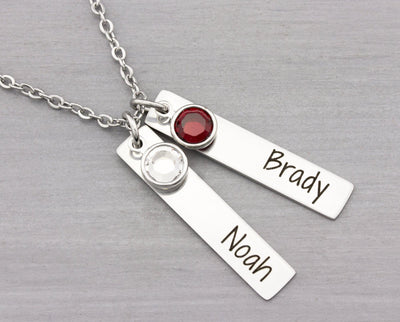 Personalized Name Necklace - Custom Jewelry - Mom Necklace with Kids Names - Personalized Mom Necklace - Gift for Mom - Mothers Gift