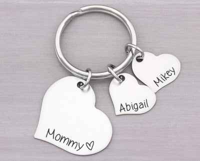 Custom Personalized Keychain - Grandmother Key Chain - Christmas  Gift - Gift for Grandmother or Mom - Keychain Gift for Her