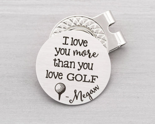 Personalized Golf Ball Marker - Custom Golf Ball Marker Clip on Hat - Personalized Magnetic Golf Ball Marker and Hat Clip - Golf Gift