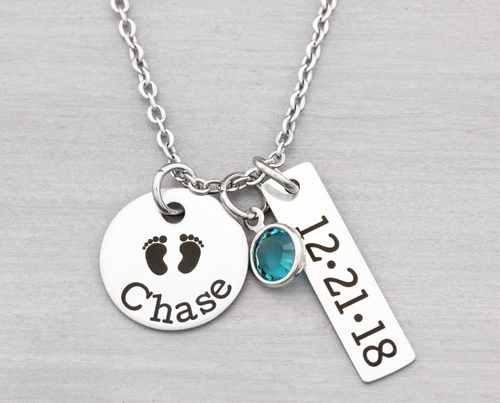 New Mom Necklace Personalized Jewelry